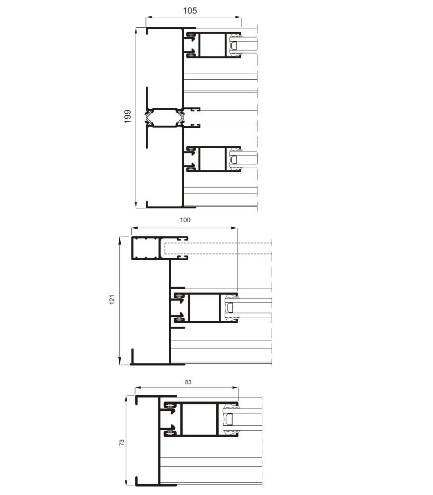 Sección del sistema 5000 Corredera